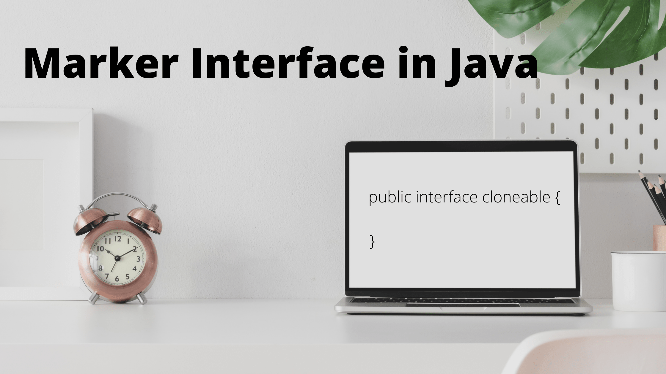 What is marker interface in java
